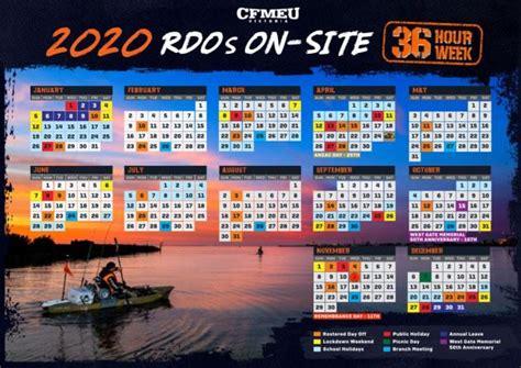 rdo calendar    cfmeu victoria tasmania
