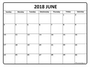 2018 Calendar For June June 2018 Calendar June 2018 Calendar Printable