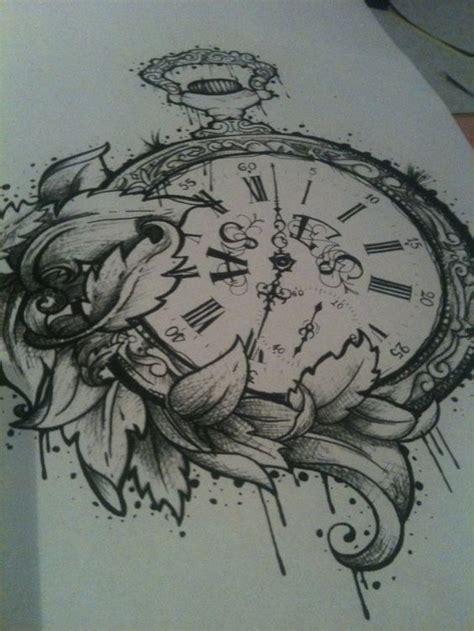tattoo flower clock 23 latest clock tattoo designs