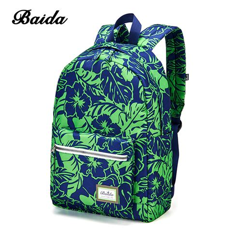flower pattern backpacks baida fashion green floral print backpack flower pattern