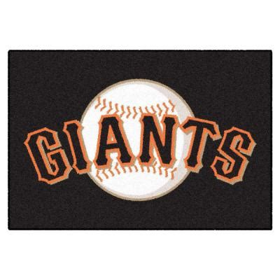 doors open sf giants fanmats san francisco giants 19 in x 30 in accent rug