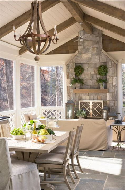 Screened In Porch With Fireplace by 17 Best Images About Porch General On