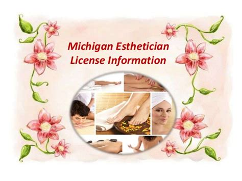michigan esthetician license information