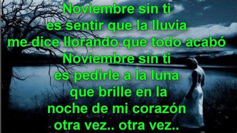 imagenes con frases noviembre sin ti reik noviembre sin ti letra youtube