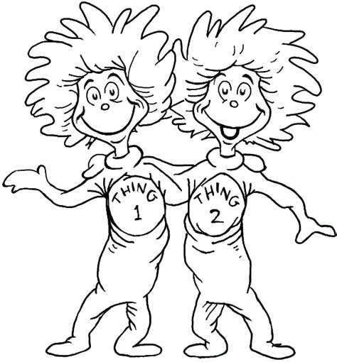 one fish two fish dr seuss characters coloring pages