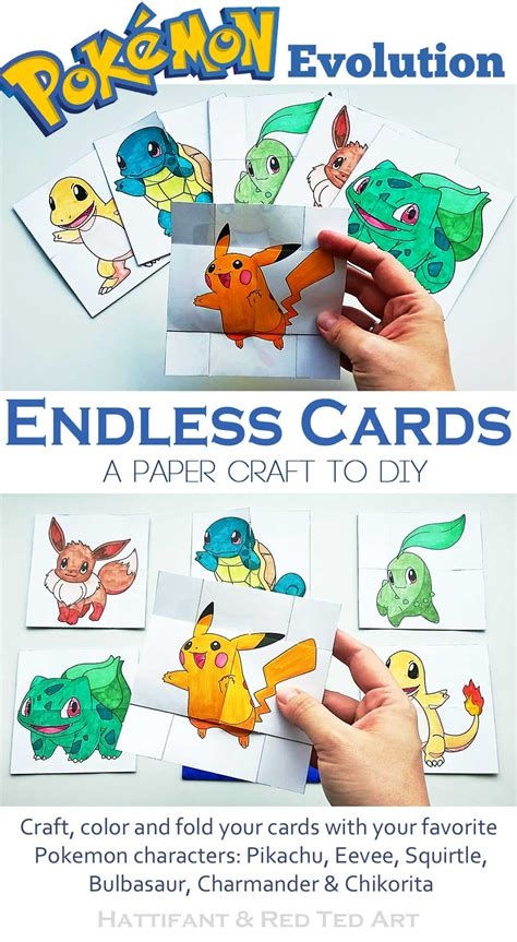 Endless Cards Template by Paper Toys Evolution Endless Cards Hattifant