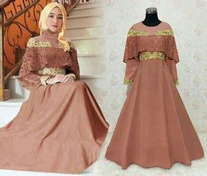 Dress Sabrina Modern baju gamis dress sabrina bahan brukat modern