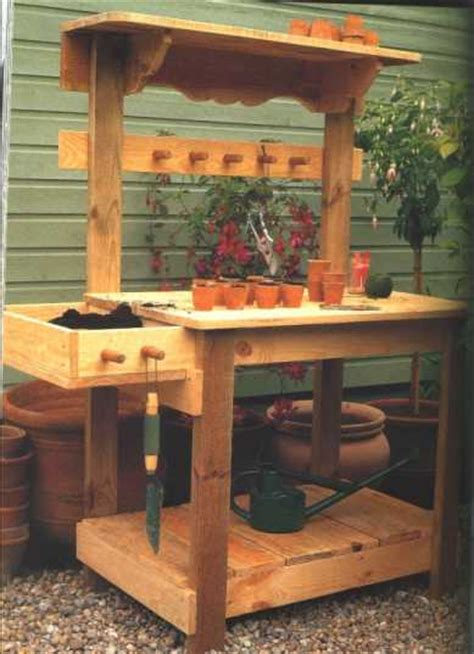 garden potting bench plans corner arbor with bench plans c10502 u s 4 99
