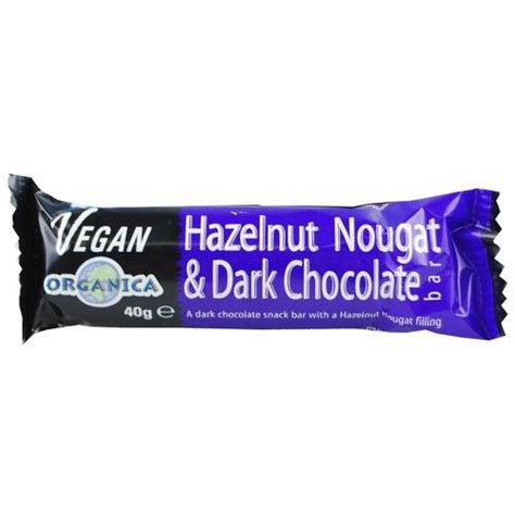 Organica Chocolate Includes Vegan Bars by Organica Vegan Hazelnut Nougat Chocolate 40g By
