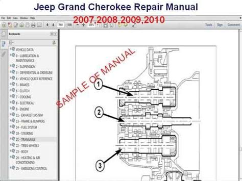 jeep grand cherokee repair manual 2007 2008 2009 2010 youtube