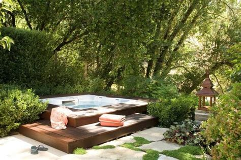 backyard spa designs 22 outdoor living spaces with jacuzzi tubs and beautiful