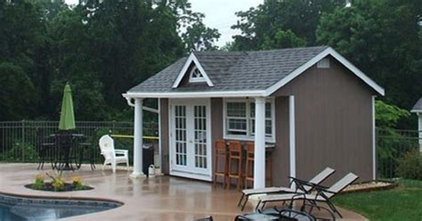pool shed plans buy an outdoor pool house for the backyard vinyl pool