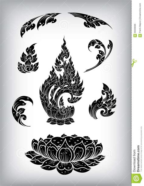 pattern stroke illustrator thai outline stroke vector pattern stock vector image
