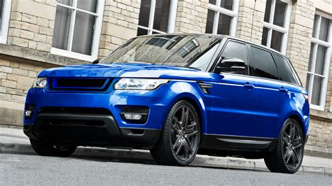 newest range rover sport go estoril blue with the newest project kahn range rover