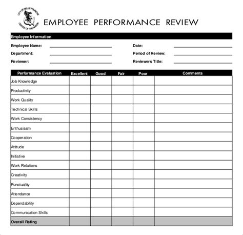 13 Employees Write Up Templates Free Sle Exle Download Free Premium Templates Employee Performance Evaluation Sle Template