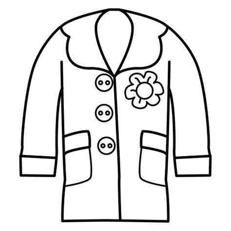 coloring page winter jacket coloring page of a coat clipart best