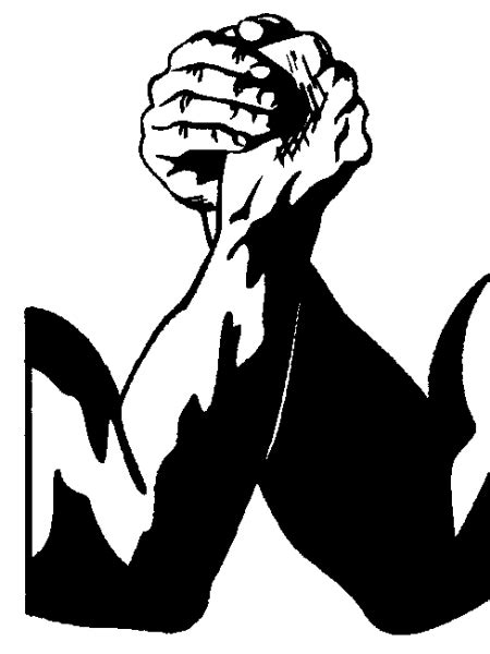 Library of clip black and white download arm wrestling png