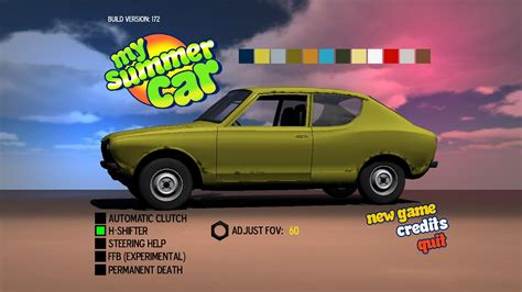 my summer car my summer car v31 07 2017 игра на стадии разработки