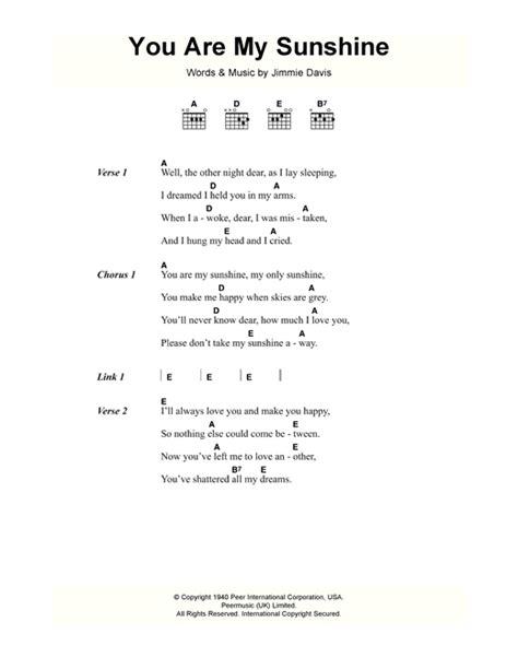 you are my sunshine lyrics printout midi and video you are my sunshine sheet music by jimmie davis lyrics