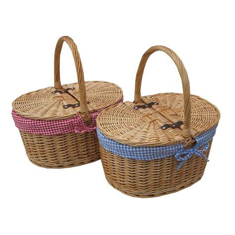 baskets for buy oval lidded wicker picnic basket shopping basket