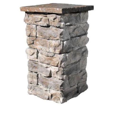 Square Fire Pit Kit - brown 36 in outdoor decorative column fscb36 the home depot