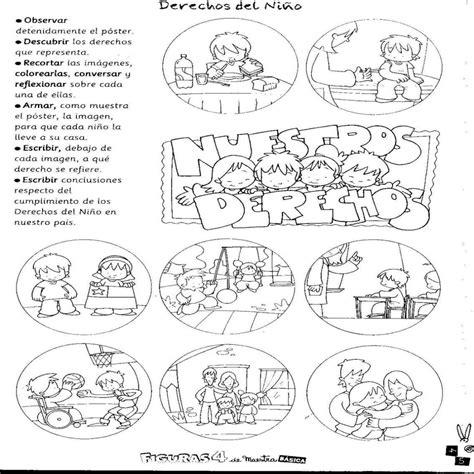 imagenes para colorear sobre los derechos de los niños mis cosas de maestra derechos y deberes de la infancia