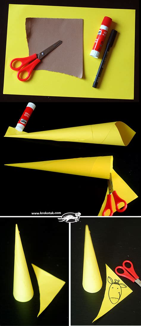 How To Make Paper Giraffe - krokotak paper giraffes so easy to make