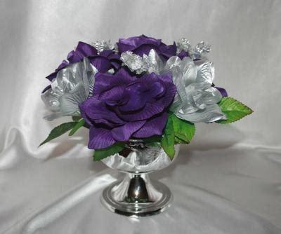 6 purple silver centerpieces decorations bridal bouquet