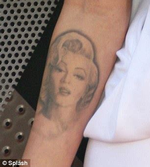 megan fox reveals her faded marilyn monroe tattoo after