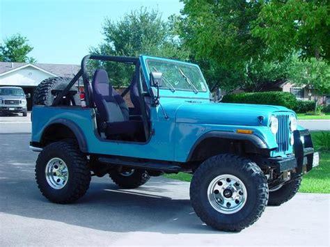 turquoise jeep cj advntrsekr 1983 jeep cj7 specs photos modification info