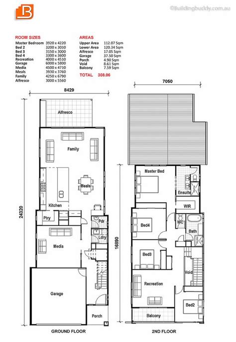 plan out your room small lot house plan the media room can be the living