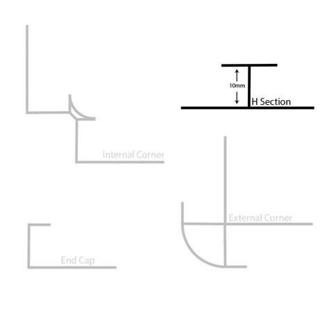 section h buy the chrome plastic h section wall panel trim