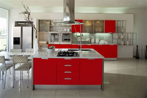 Red Kitchen Cabinets by Modern Cherry Red Kitchen Cupboards Best Home Decoration