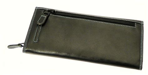 Gift Card Wallet - real leather wallet purse credit card holder with coin purse section holds 12