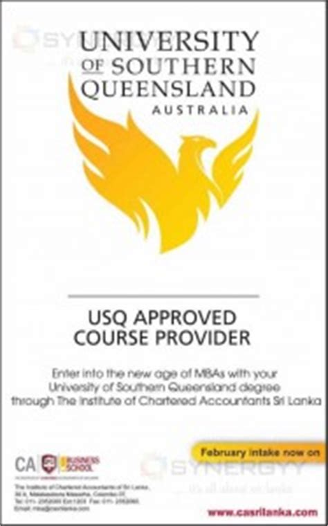 The Of Queensland Business School Mba Tuition by Of Southern Queensland Mba In Sri Lanka