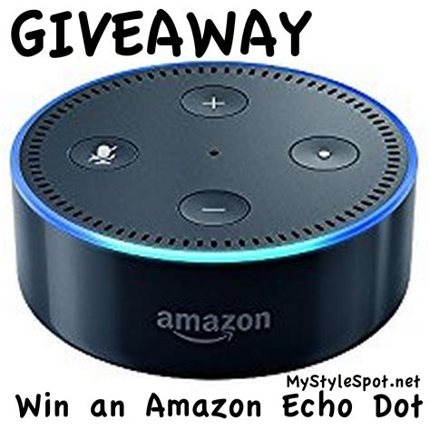 Amazon Echo Giveaway - giveaway win an amazon echo mystylespot