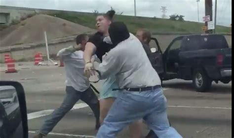Rage Fight Gets Punched In The Truck Smashes Into Car In Legendary Road Rage Fight
