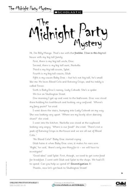 Stories Of Mystery midnight mystery story free primary ks1 teaching