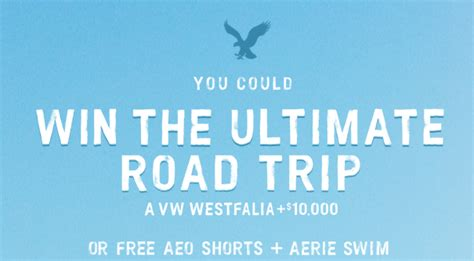American Eagle Sweepstakes - american eagle aerie roap trip sweepstakes and instant win game win aeo shorts