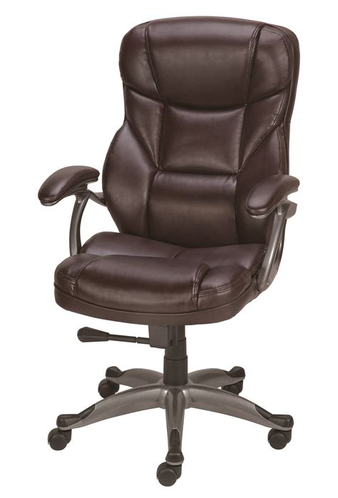 Haigh Chair Cocholatte 039 staples osgood bonded leather high back manager s chair brown ebay