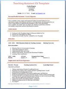 Teaching Assistant Application Letter Uk 12 How To Make Teaching Cv Basic Appication Letter