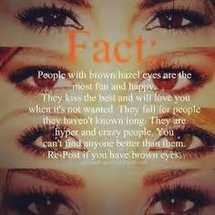 what does my eye color say about me i hazel brownish everyone says they re green