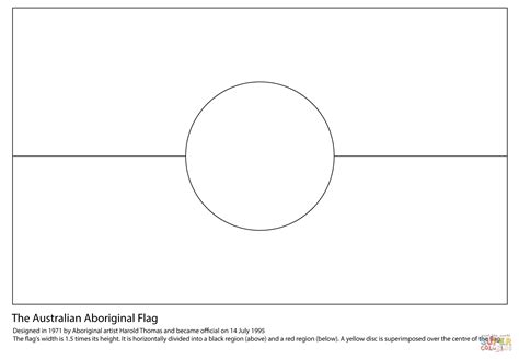 flag to colour template australian aboriginal flag coloring page free printable