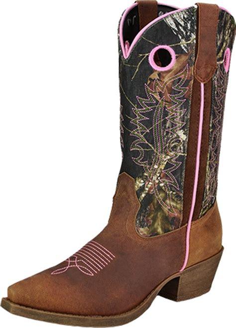 deere western boots womens sniptoe cowboy camo