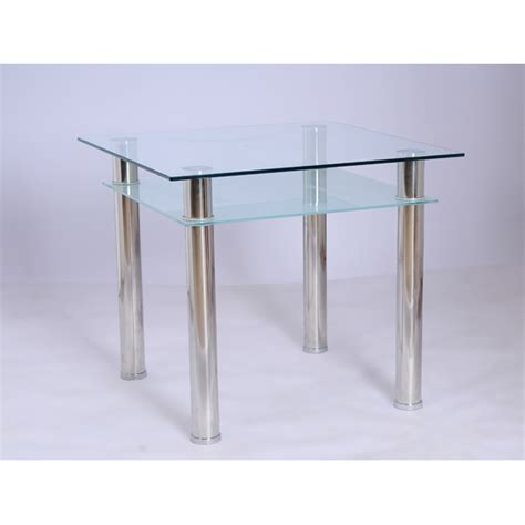 Dining Table With Glass Furniture In Fashion Jayzee Clear And Frosted Glass Dining Table Only Uk Supplier Cheap E