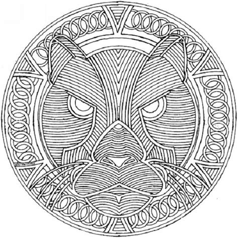 tiger mandala coloring pages how to draw wolf mandala