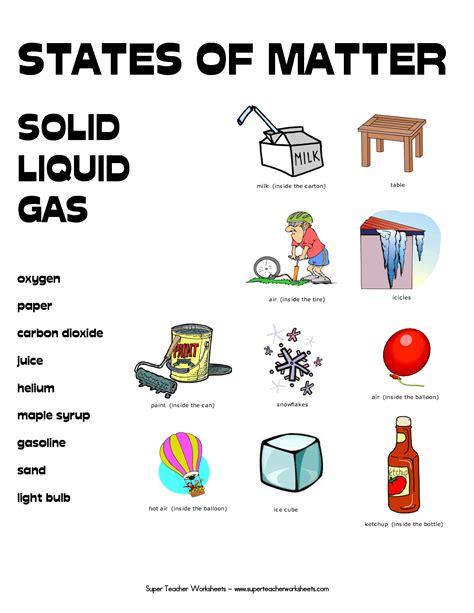 matter at free printables on states of matter states of matter and