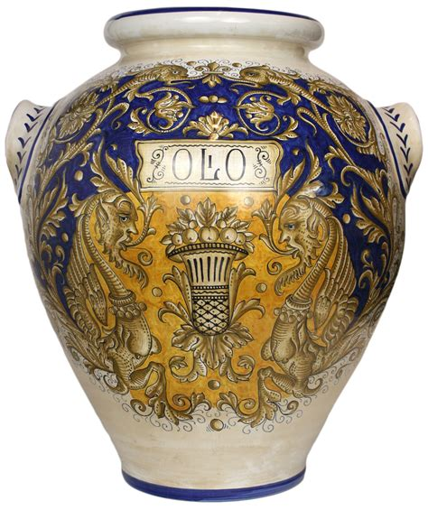 Italian Ceramic Vase by Italian Ceramic Floor Vase