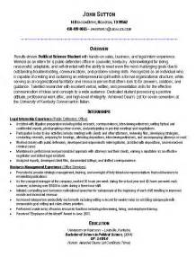 Exles Of Resumes For Internships by Sle Internship Resume