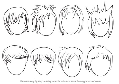 how to draw easy anime hair learn how to draw anime hair male hair step by step